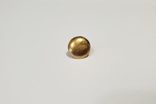 Brass button plain-14mm
