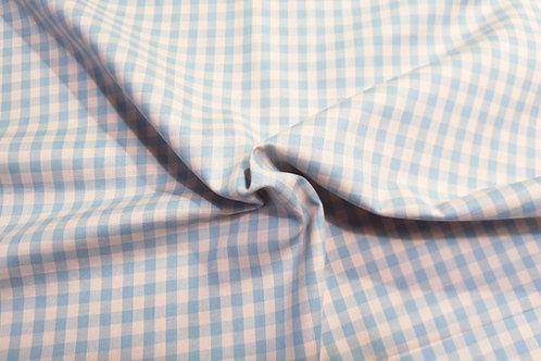 Cotton gingham- blue beige 32