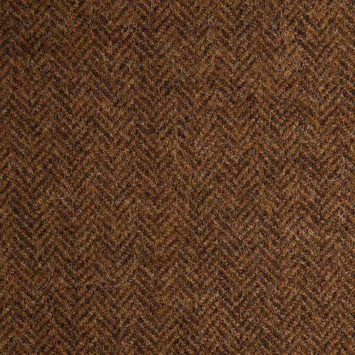 Herringbone wool fabric 100%-warm brown