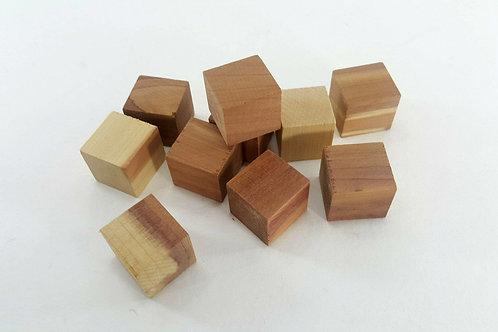Red cedar-cubes 10pcs