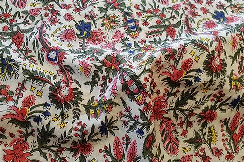 Cotton print-flower field