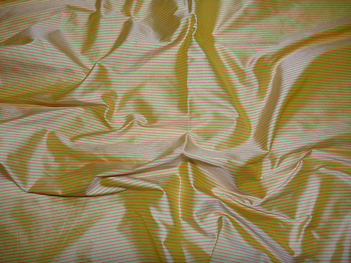 Silk-small stripes-yellow/red