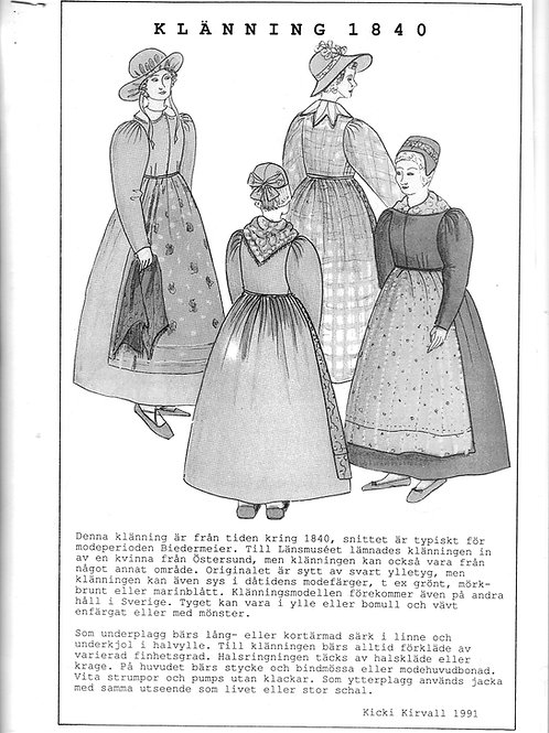 Sewing pattern Jamtli- Dress 1840