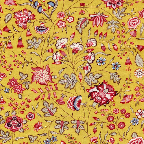 Dutch heritage chintz- yellow 1025