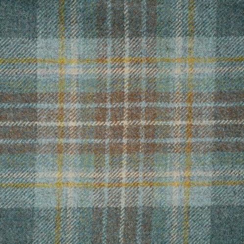 Tartan wool fabric-blue