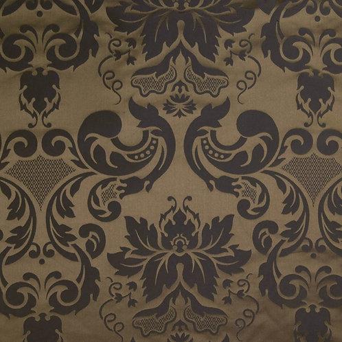 Silk damast medalion-brown