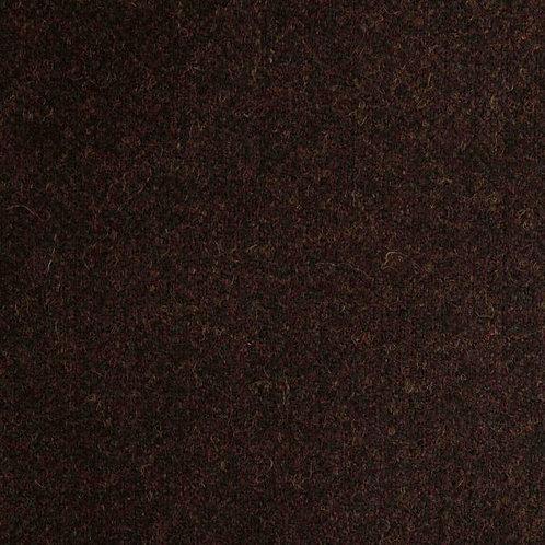 Herringbone wool fabric 100%-dark brown