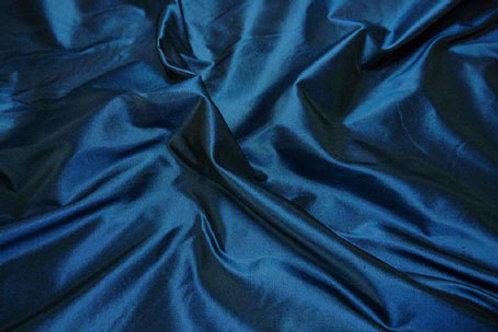 Silk taffeta-dark petrol blue