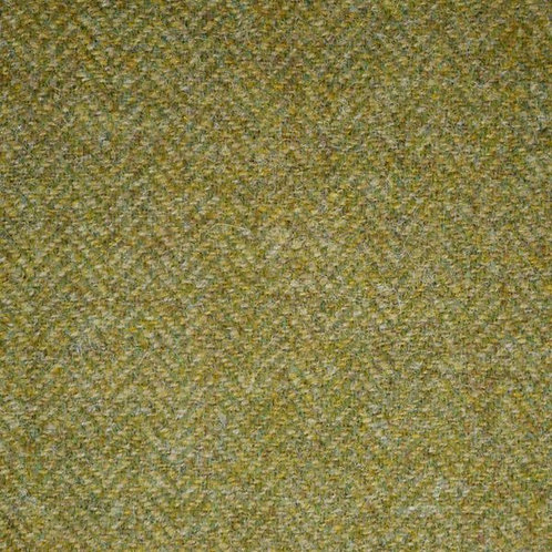 Herringbone wool fabric 100%- light yellow green