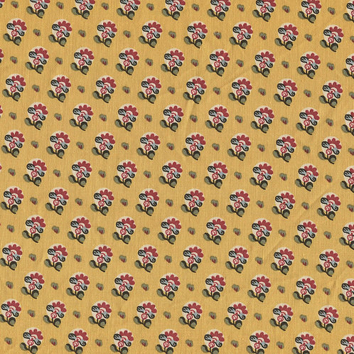 Dutch heritage chintz- yellow 4014