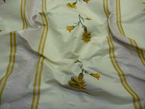 Stripe with flower-white