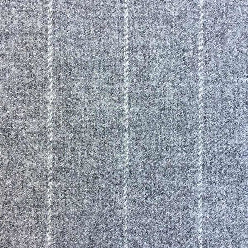 Twill wool fabric-gray with white stripes