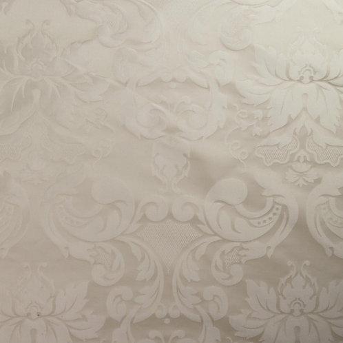 Silk damast medalion-white
