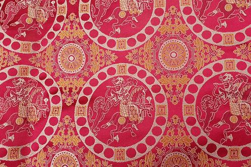 Silk brokade-Oseberg in red 9th cent