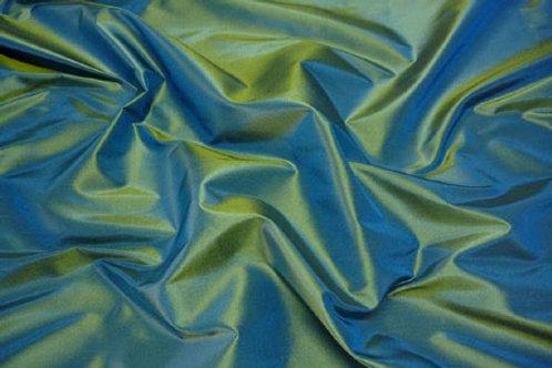 Silk taffeta-green blue