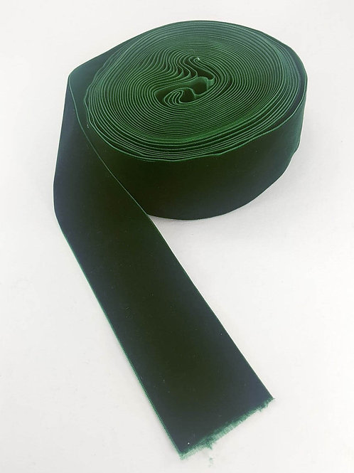 Velvet ribbon-dark green 5cm