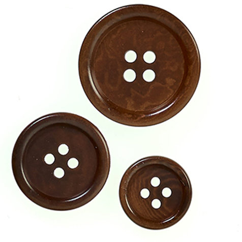 Corozo button- brown 20mm