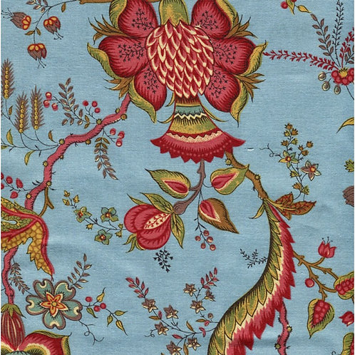 Dutch heritage chintz- teal 2029