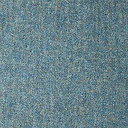 Herringbone wool fabric 100%-light blue