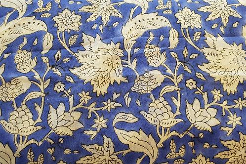 Cotton print-blue white