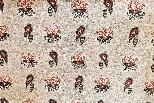 Swedish cotton print-kattun från Sunne, Jämtland