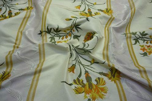 Stripe with big flower-cream