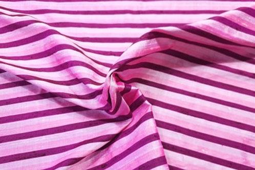 Striped silk dupion-purple & pink