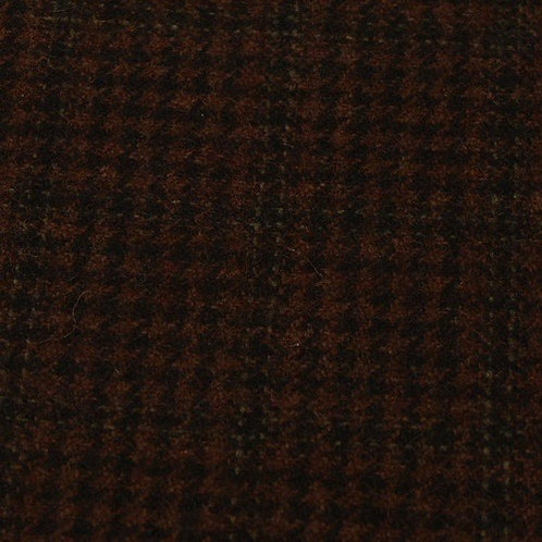 Wool tartan 60% wool-brown black