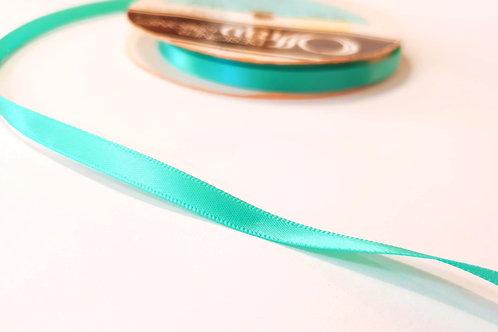 Satin ribbon 6mm-teal