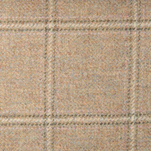 Tartan wool fabric-beige