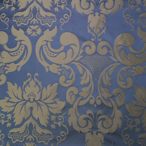 Silk damast medalion-gold blue