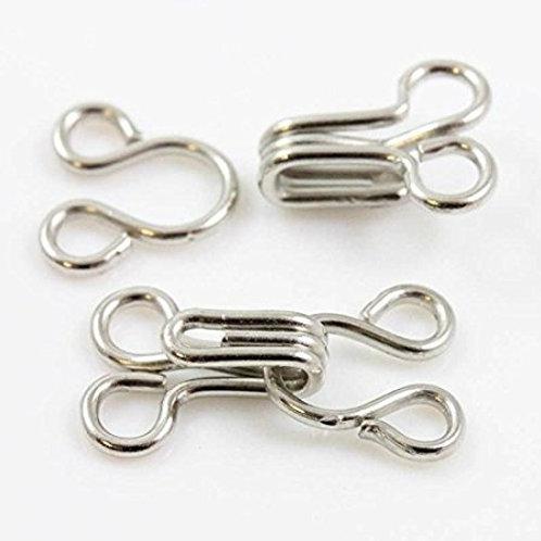 Small hooks & eye 12mm 10pcs