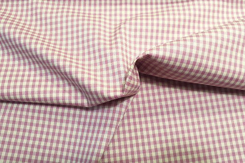 Cotton gingham- purple beige 23