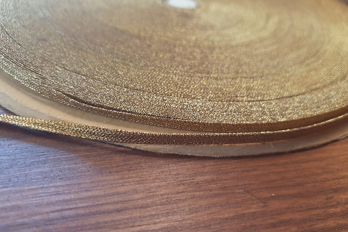 Vintage metal ribbon 4mm- dark gold