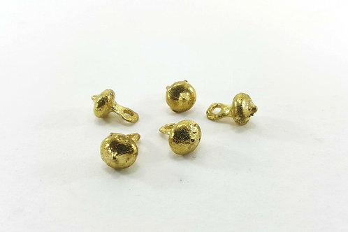 Brass button plain-9mm