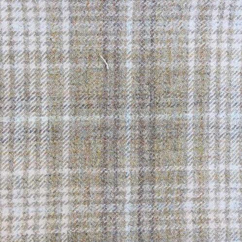 Tartan wool fabric-gray