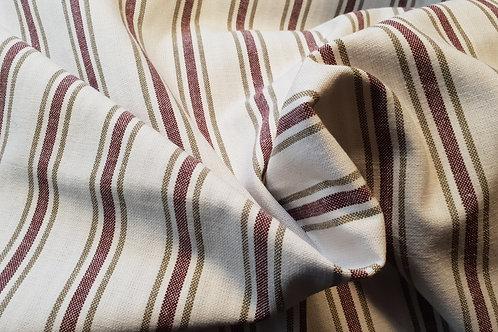 Striped cotton-red white