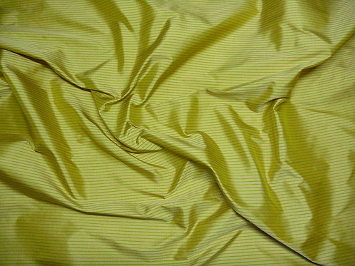 Silk-small stripes-yellow/green
