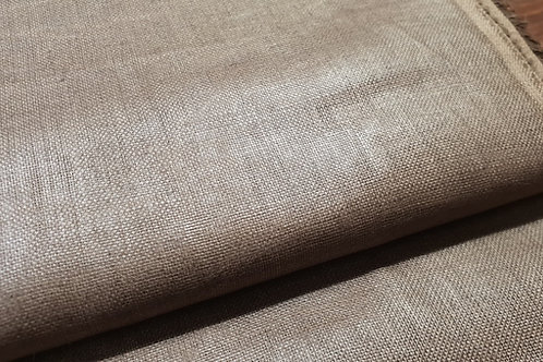 Vaxed calendered linen- brown