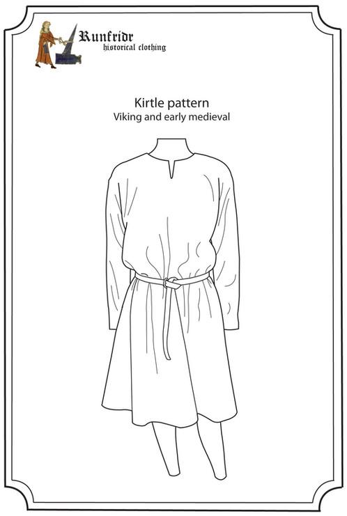 Sewing pattern-viking kirtle