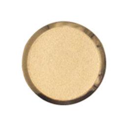Metal button flat- gold n15mm