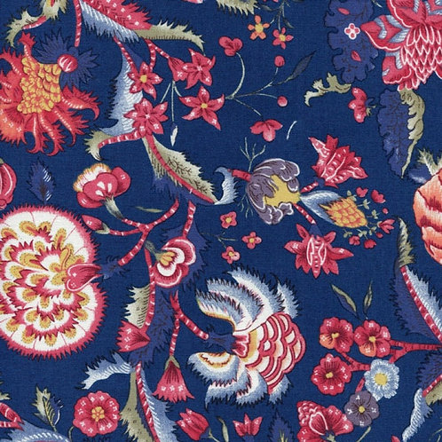 Dutch heritage chintz- navy 5000