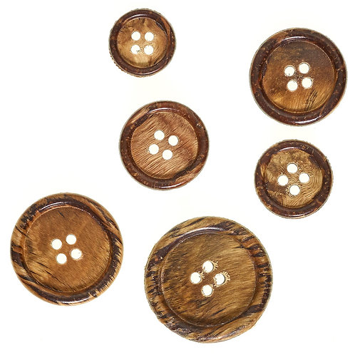 Wood button- recycled 23mm