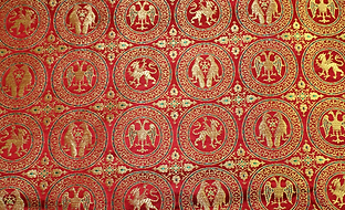 medieval silk brocade