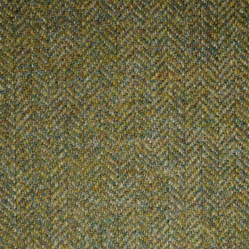 Herringbone wool fabric 100%-olive green