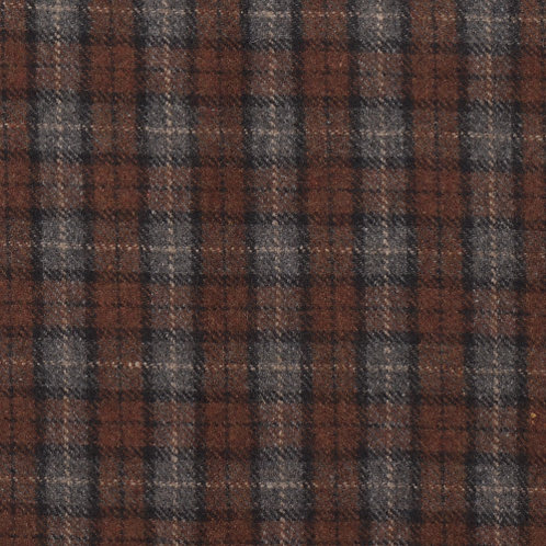 Wool tartan 60% wool-blue with brown/black