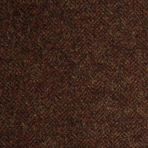 Herringbone wool fabric 100%-chocolate brown