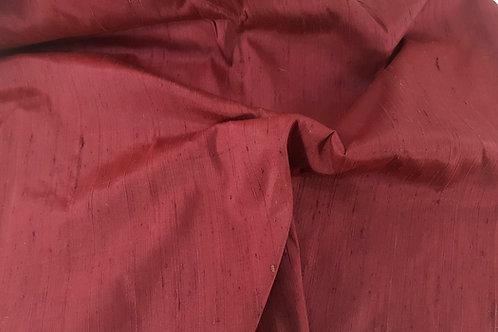 Dupion thai silk-wine red