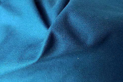 Wool twill-petrol blue
