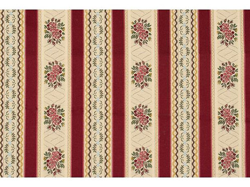 Cotton/poly upholstery fabric- red